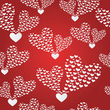 Abstract seamless background to the Valentine's day. Royalty Free Stock Photos