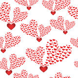 Abstract seamless background to the Valentine's day. Stock Photography