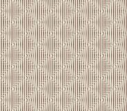 Abstract seamless background of white and brown lines and squares. Abstract seamless strips and small squares of white and brown lined in rows to form a Royalty Free Stock Photos