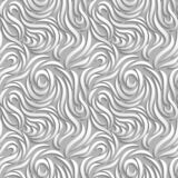 Abstract seamless background. White curves with shadows. royalty free illustration