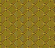 Abstract seamless background of yellow and black lines and squares. Abstract seamless strips and small squares of yellow and black lined in rows to form a Royalty Free Stock Photography