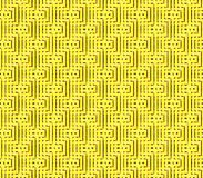 Abstract seamless background of yellow and black lines and squares. Abstract seamless strips and small squares of yellow and black lined in rows to form a Stock Images