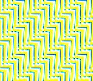 Abstract seamless background of yellow and white and blue lines and angles. Abstract seamless strips and corners yellow and white and blue lined in rows to form Stock Images
