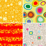 Abstract seamless backgrounds. Royalty Free Stock Photos