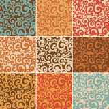 Abstract seamless backgrounds with curls Royalty Free Stock Photo