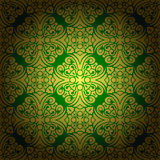 Abstract seamless baroque background green Royalty Free Stock Photography