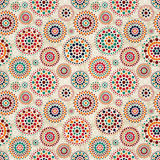 Seamless Beige Pattern with Colorful Elements Stock Photo