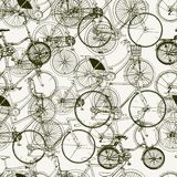 Abstract Seamless bicycles pattern. Stylish vector print Stock Image