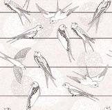Abstract seamless bird pattern. Stock Photo