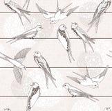 Abstract seamless bird pattern. Stock Photo