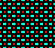 Abstract seamless black background with blue flowers and red squares. Abstract seamless black background with blue flowers red squares laid out in rows and form royalty free illustration