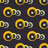 Abstract seamless black background with chains. Seamless dark pattern. royalty free illustration