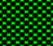Abstract seamless black background with green flowers red squares Stock Photo