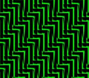 Abstract seamless black and green lines and angles. Abstract seamless strip and angles black and green lined in rows to form a continuous pattern Stock Photography