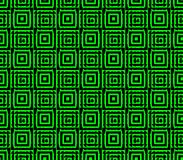 Abstract seamless black and green lines and squares. Abstract seamless strips and small squares of black and green lined in rows to form a continuous pattern Stock Photography