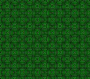 Abstract seamless black and green lines and squares. Abstract seamless strips and small squares of black and green lined in rows to form a continuous pattern Royalty Free Stock Image