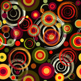 Abstract seamless black pattern. Abstract seamless black grunge pattern with colorful circles Royalty Free Stock Photo