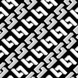 Abstract seamless in black and white Stock Images