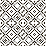 Abstract seamless black and white aboriginal pattern. Of circles and sticks. Cheerful contrast print. Vector illustration for various creative projects Royalty Free Illustration