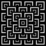 Abstract Seamless Black and White Art Deco Vector Patter Stock Photos