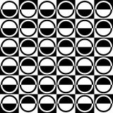 Abstract Seamless Black and White Art Deco Vector Pattern Stock Photography
