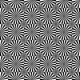 Abstract Seamless Black and White Art Deco Vector Pattern Royalty Free Stock Photography