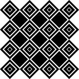Abstract Seamless Black and White Art Deco Vector Pattern Royalty Free Stock Images