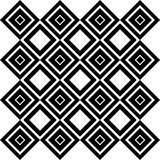 Abstract Seamless Black and White Art Deco Vector Pattern Royalty Free Stock Image