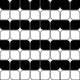 Abstract Seamless Black and White Art Deco Vector Pattern Royalty Free Stock Photos