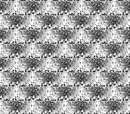 Abstract seamless black and white and gray spots and lines around the figure Royalty Free Stock Photo