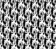 Abstract seamless black and white and gray spots and lines around the figure Stock Photo