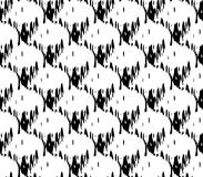 Abstract seamless black and white and gray spots and lines around the figure. Abstract seamless black and white and gray spots, lines and rows of holes arranged stock illustration
