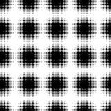 Abstract Seamless black and white halftone pattern. Mosaic of spheres from black dots. Stock Images