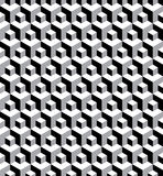 Abstract seamless black & white hexagonal pattern Stock Image