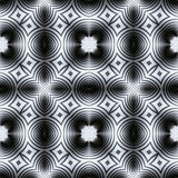 Abstract seamless black and white kaleidoscopic circular pattern. Mosaic floor seamless pattern of circular and oval shapes vector illustration