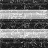 Abstract seamless black and white marbled pattern with veined structure Royalty Free Stock Photography
