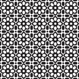 Abstract seamless black & white ornate flower pattern Royalty Free Stock Images