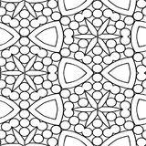 Abstract seamless black and white pattern Royalty Free Stock Photography