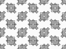 Abstract seamless black and white pattern in art deco style. Vector. Illustration royalty free illustration