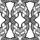 Abstract seamless black and white pattern. Illustration royalty free illustration