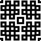 Abstract seamless black and white pattern Stock Photo