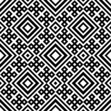 Abstract seamless black and white pattern stock image