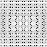 Abstract seamless black and white pattern Stock Images