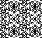 Abstract seamless black and white pattern Royalty Free Stock Photos