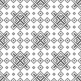 Abstract seamless black and white pattern stock photography
