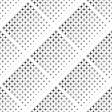 Abstract seamless black and white pattern of rhombuses, halftone Stock Image
