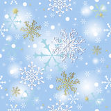 Abstract seamless blue background. With snowflakes (vector royalty free illustration