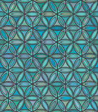 Abstract seamless blue and green floral pattern Royalty Free Stock Photography