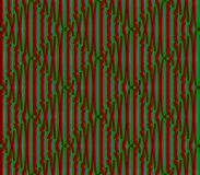 Abstract seamless blue, green and red lines and squares. Abstract seamless strips and small squares of blue, green and red lined in rows to form a continuous vector illustration