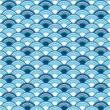 Abstract seamless blue pattern. With concentric circles vector illustration
